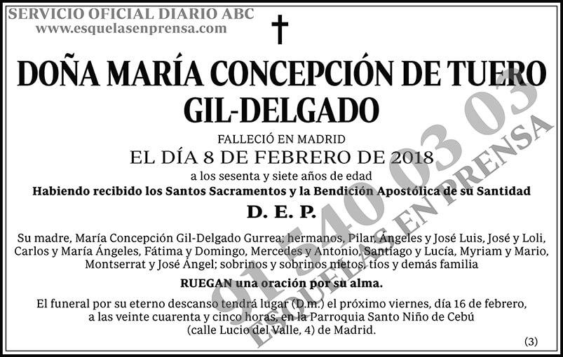 María Concepción de Tuero Gil-Delgado